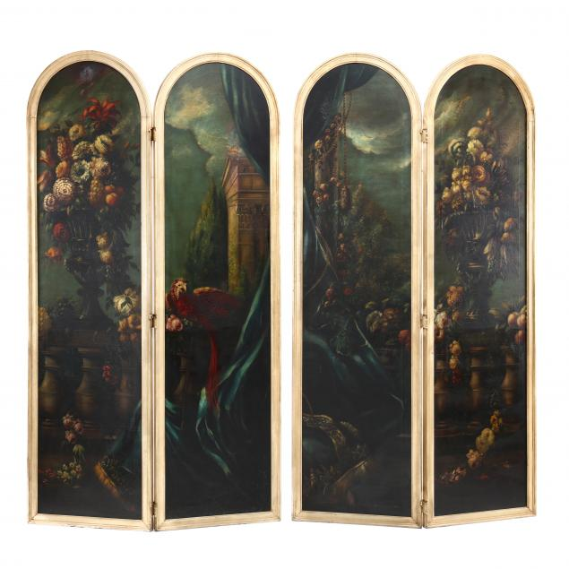 a-vintage-italian-painted-four-panel-floor-screen