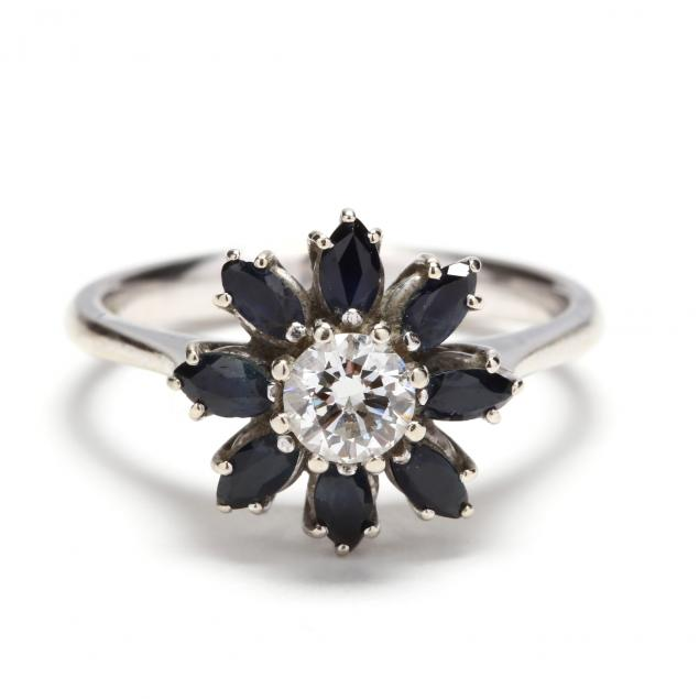 white-gold-diamond-and-sapphire-ring