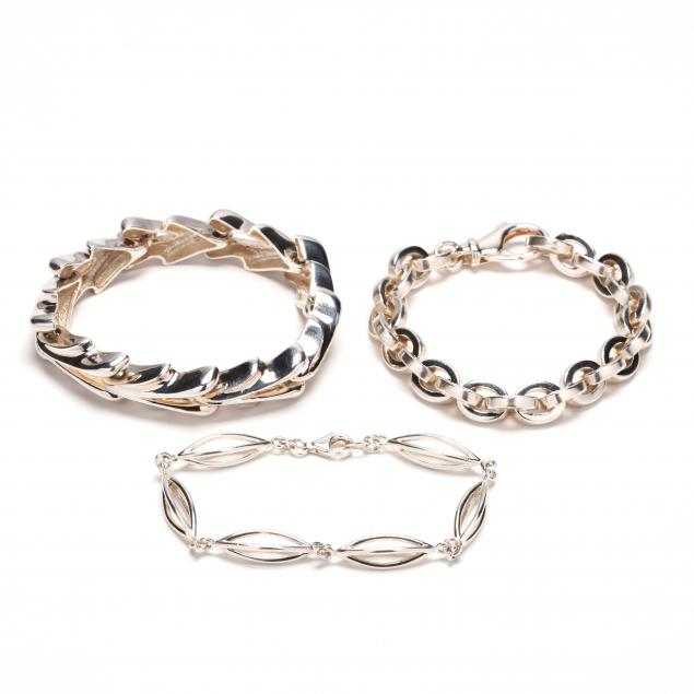 three-sterling-silver-bracelets