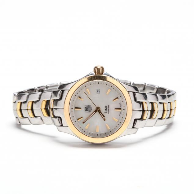lady-s-stainless-steel-and-18kt-gold-link-watch-tag-heuer