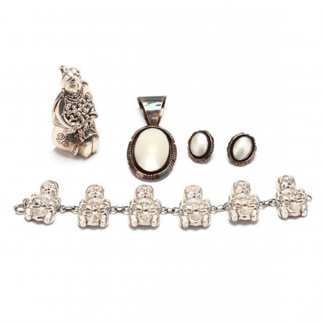 four-southwestern-silver-jewelry-items