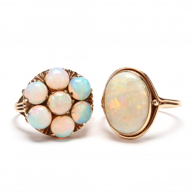 two-gold-and-opal-rings
