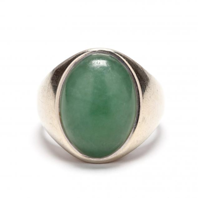 gent-s-14kt-white-gold-and-jadeite-ring-signed