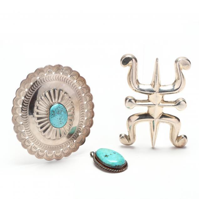 three-southwestern-silver-pendants