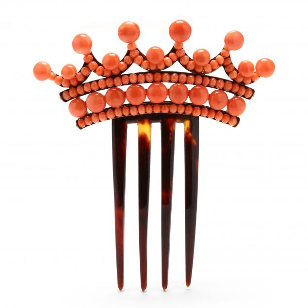coral-and-faux-tortoiseshell-hair-comb