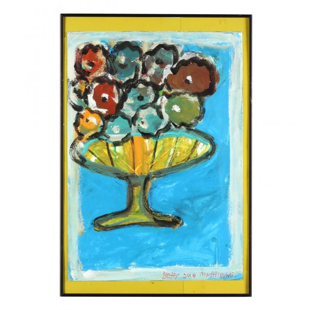 folk-art-painting-betty-sue-matthews-al-1950-flower-vase