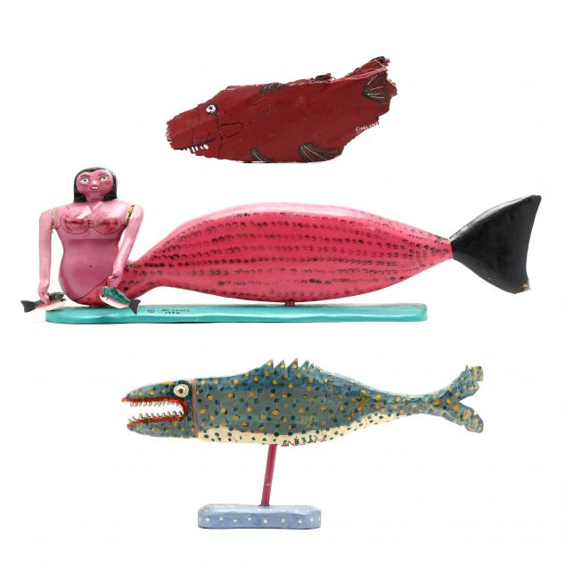 three-folk-art-carvings-of-sea-life