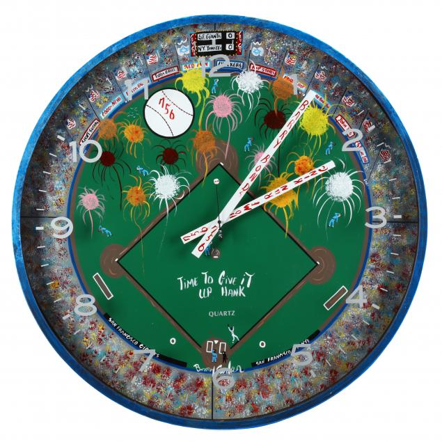 folk-art-baseball-theme-clock-benny-carter-nc-1943-2014