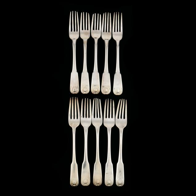 a-set-of-ten-scottish-georgian-silver-forks