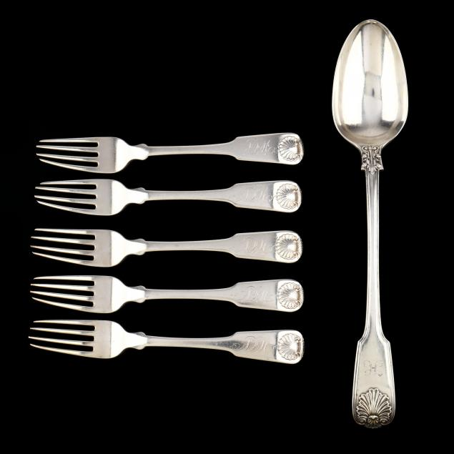 six-george-iii-silver-flatware-items