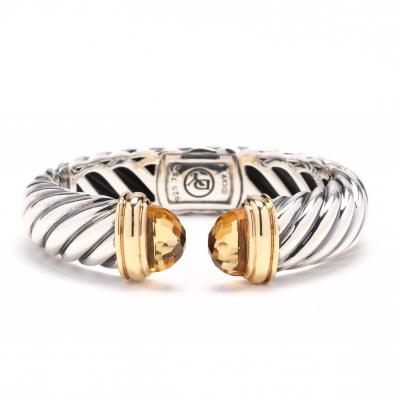sterling-silver-18kt-gold-and-citrine-cuff-bracelet-david-yurman