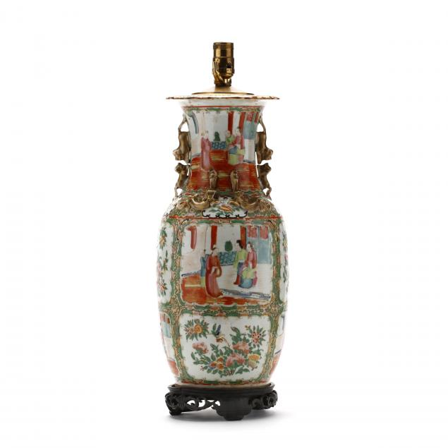 a-chinese-rose-medallion-vase-lamp