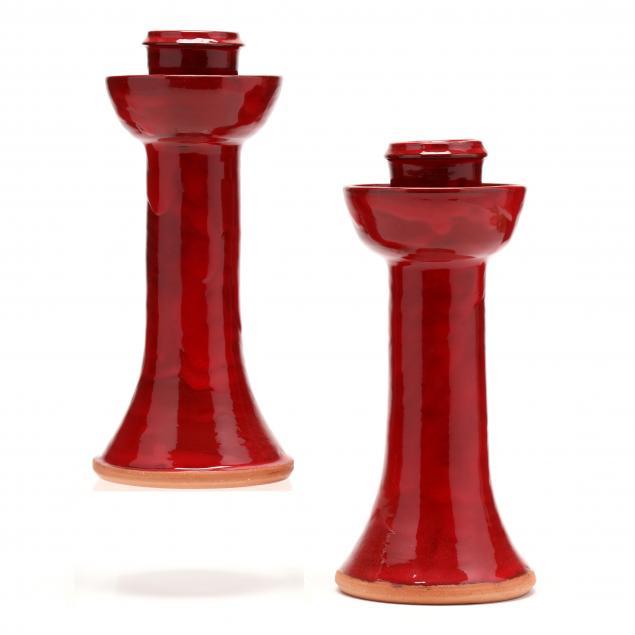 nc-pottery-ben-owen-iii-candlesticks
