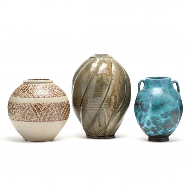 nc-pottery-three-ben-owen-iii-vases