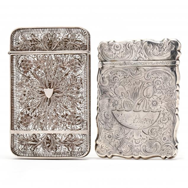 two-antique-silver-card-cases
