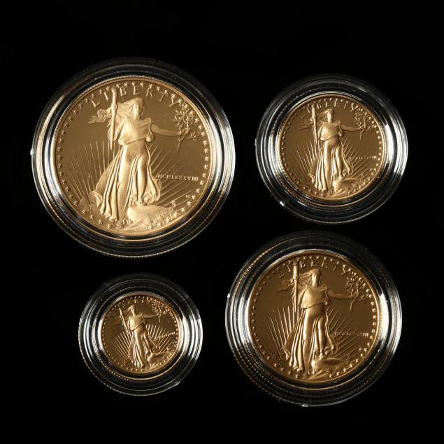 1988-four-coin-american-gold-eagle-proof-set