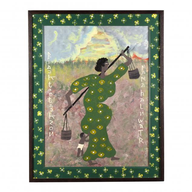 folk-art-painting-black-joe-jackson-ga-1920-1997-i-mama-haulin-water-i