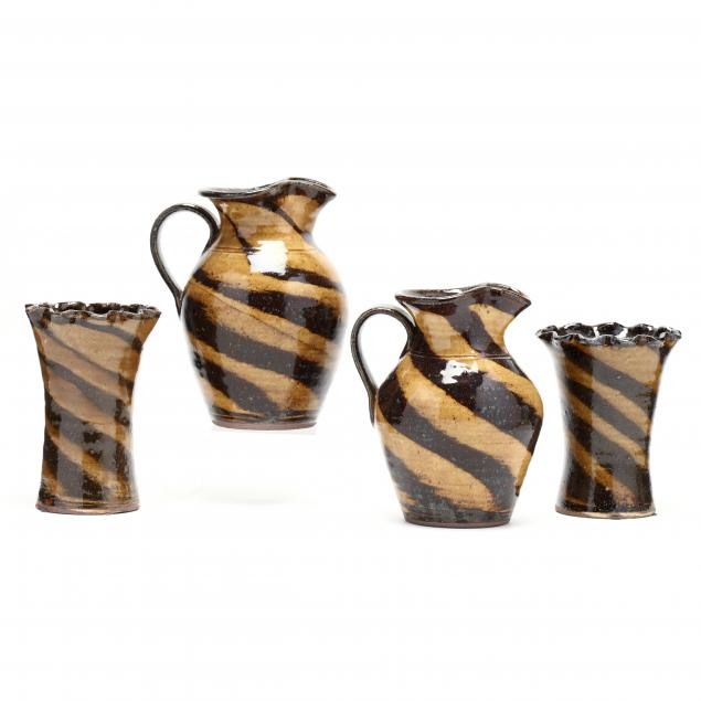 western-nc-pottery-kim-ellington-two-pairs