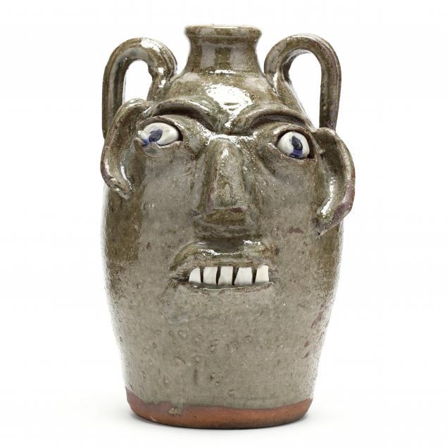 western-nc-folk-pottery-burlon-craig-face-jug