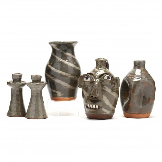 a-grouping-of-burlon-craig-pottery