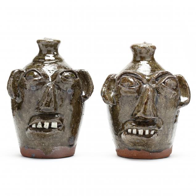 western-nc-folk-pottery-burlon-craig-face-jugs