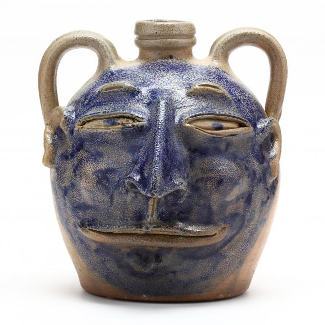 nc-folk-pottery-billy-ray-hussey-face-jug