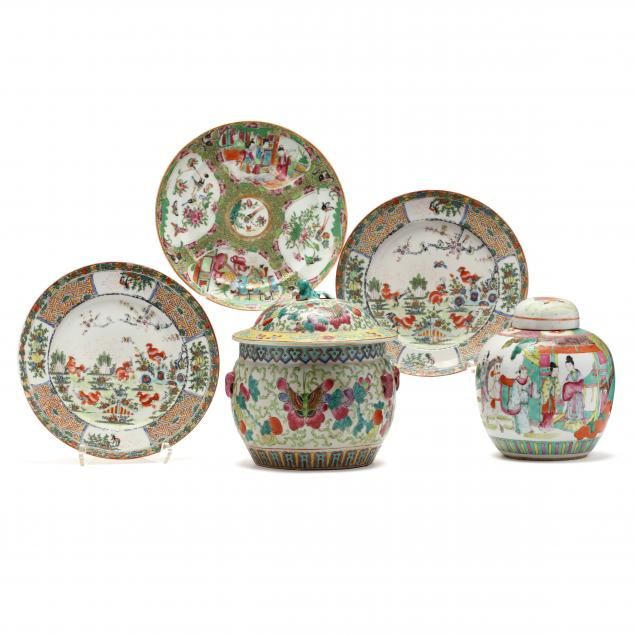 a-group-of-chinese-famille-rose-porcelain
