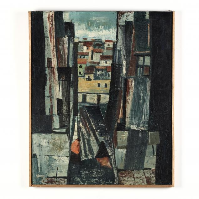 antonio-llanque-huanca-south-american-20th-century-city-scene