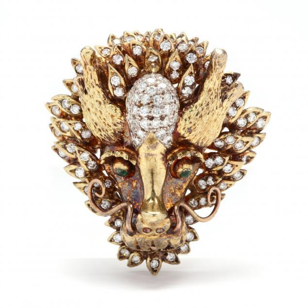 gold-and-diamond-dragon-motif-brooch-clasp