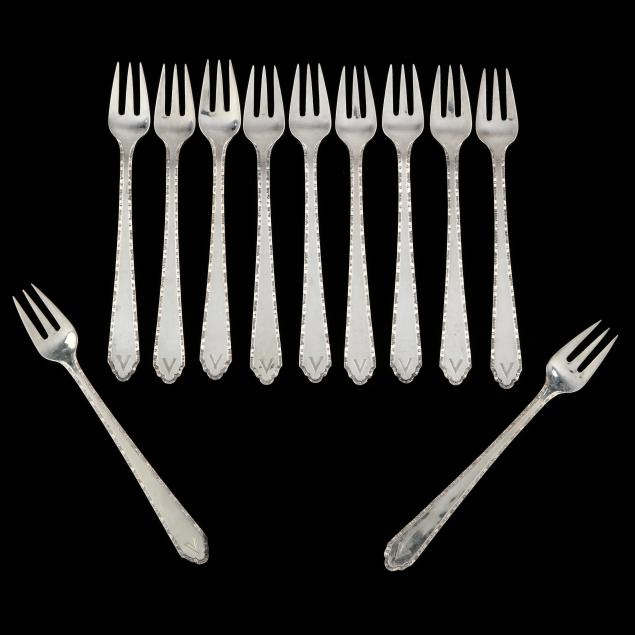 a-set-of-11-chinese-art-deco-silver-cocktail-forks
