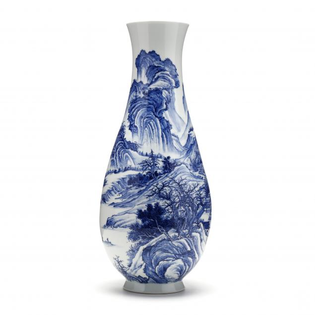 a-tall-chinese-porcelain-blue-and-white-landscape-vase