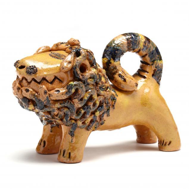 nc-folk-pottery-billy-ray-hussey-the-medusa-lion