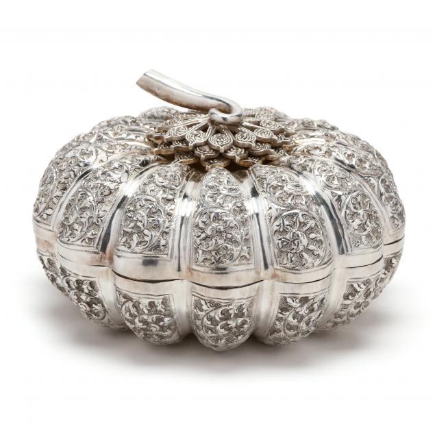 a-cambodian-silver-melon-form-betel-box