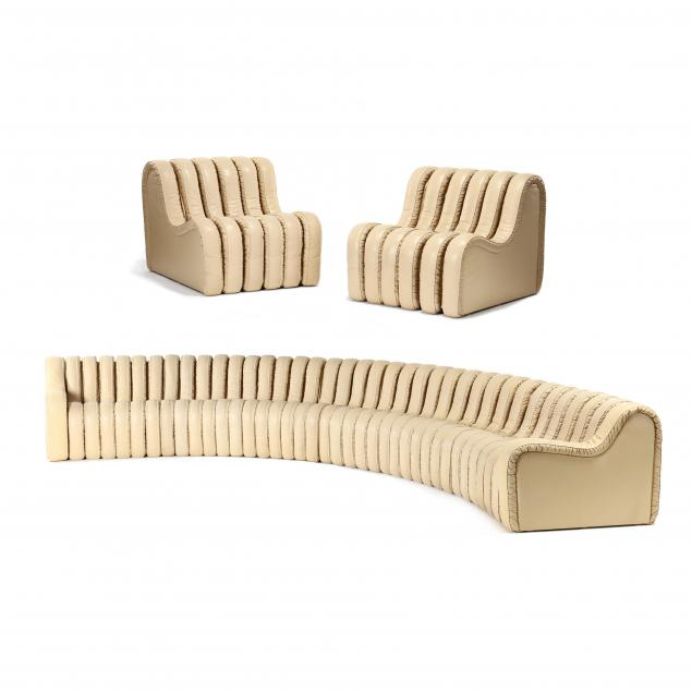berger-peduzzi-riva-and-ulrich-ds-600-organic-sofa-and-two-chairs