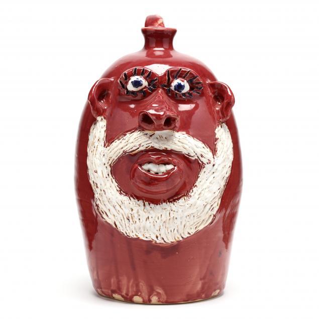 alabama-folk-art-pottery-santa-claus-face-jug-jerry-brown-1942-2016