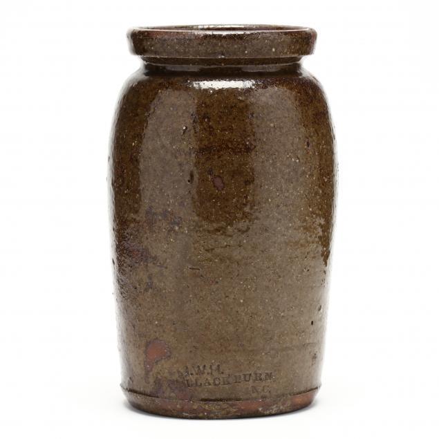 western-nc-pottery-canning-jar-john-wesley-hilton-1846-1923-catawba-county