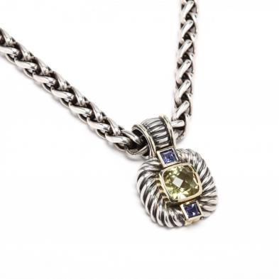 sterling-silver-and-gold-gem-set-pendant-necklace-david-yurman