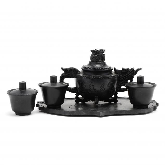 chinese-carved-soapstone-tea-set