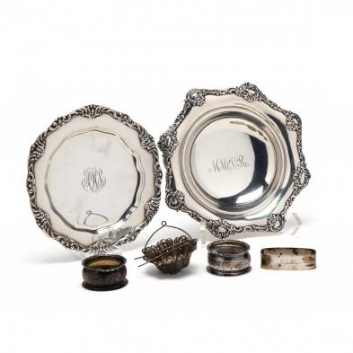 a-group-of-antique-sterling-silver-hollowware