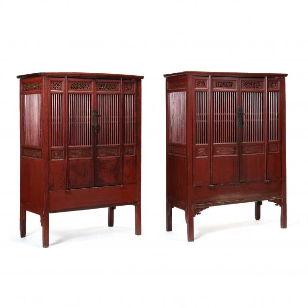pair-of-chinese-red-lacquered-wedding-cabinets
