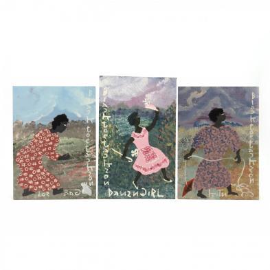 folk-art-painting-black-joe-jackson-ga-1920-1997-a-trio