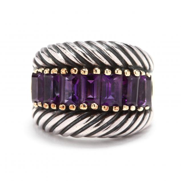 sterling-silver-14kt-gold-and-amethyst-ring-david-yurman