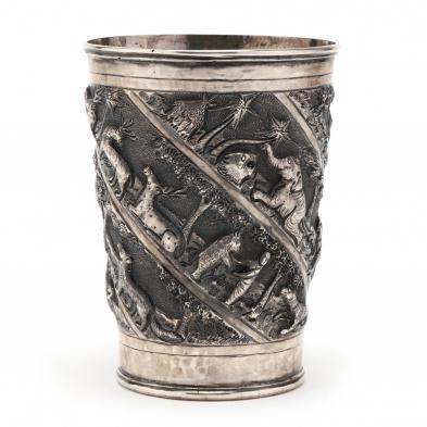 an-antique-indian-silver-beaker