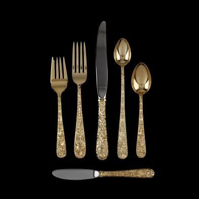 s-kirk-son-repousse-gold-vermeil-sterling-silver-flatware-service