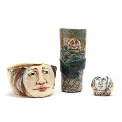 three-pieces-of-north-carolina-art-pottery