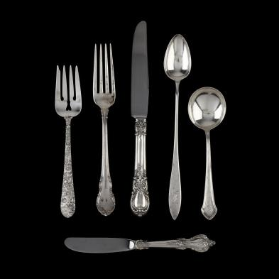 a-large-assortment-of-sterling-silver-silverplate-flatware