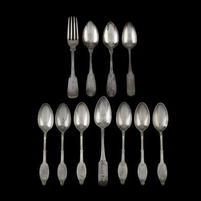 eleven-pieces-of-american-coin-silver-flatware