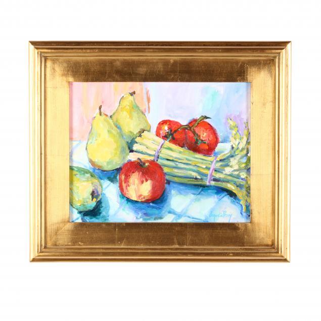 jacqueline-perry-nc-b-1955-i-pears-asparagus-i