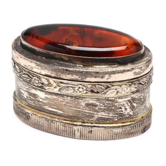 a-continental-sterling-silver-amber-box
