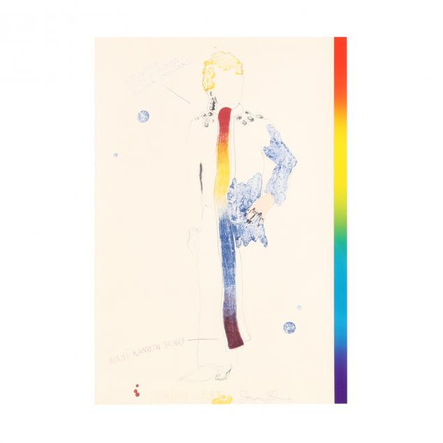 jim-dine-american-born-1935-i-dorian-gray-with-a-rainbow-scarf-i